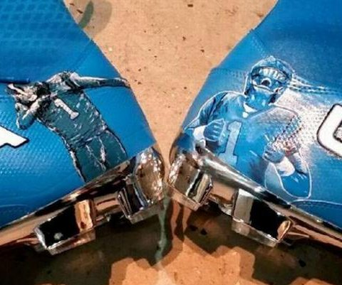 Panthers' Cam Newton displays 'dabbing' cleats against Cowboys