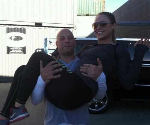 Ronda Rousey training Vin Diesel's daughter in judo