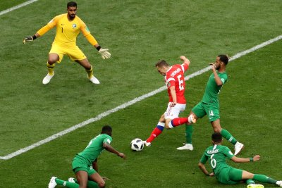 World Cup: Cheryshev uses first touch, scores for Russia
