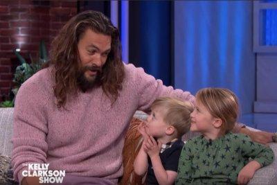 Kelly Clarkson's kids interview Jason Momoa about 'Aquaman'