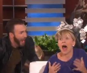 Scarlett Johansson gets a scare on 'The Ellen DeGeneres Show'