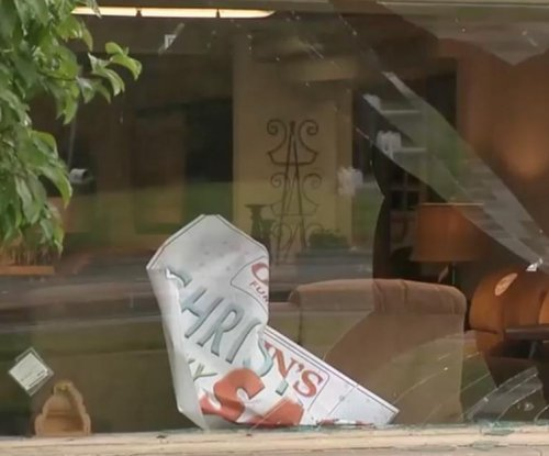 Deer crashed through window of Michigan furniture store