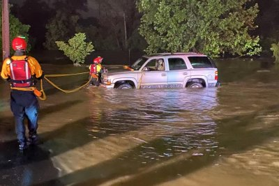 Evacuations underway as flooding hits Roanoke, Va.