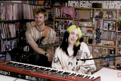 Billie Eilish performs 'My Future' during Tiny Desk concert