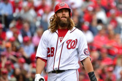Washington Nationals LF Jayson Werth leaves game