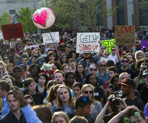 Peaceful Freddie Gray protesters fill streets of Baltimore