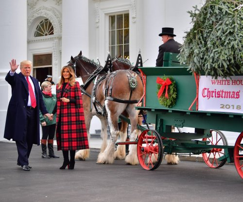 Watch live: President Donald Trump, first lady welcome White House Christmas Tree