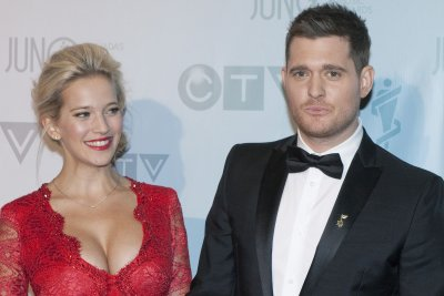 Michael Buble's wife posts with son Noah after cancer battle