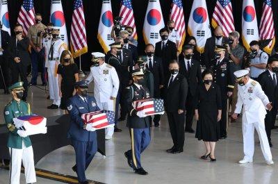 South Korea President Moon Jae-in attends war remains transfer in Hawaii