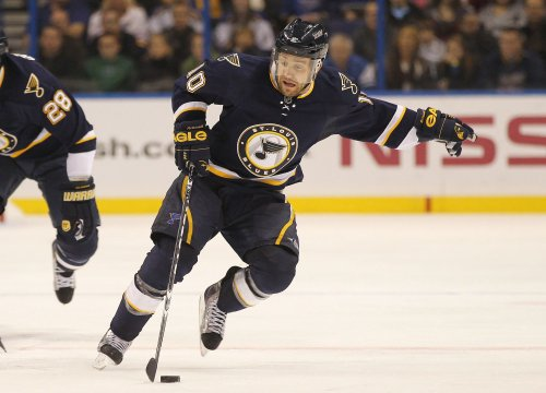 Blues' McDonald out with concussion