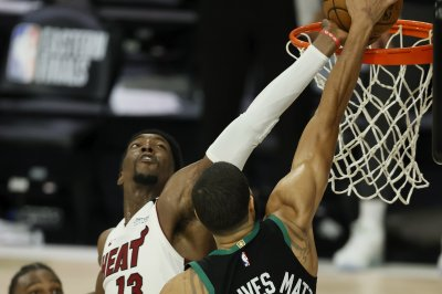 Bam Adebayo's clutch block helps Heat edge Celtics in Game 1