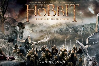 'The Hobbit' Battle of the Five Armies' debuts epic tapestry poster
