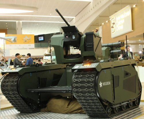 Milrem displays THeMIS modular unmanned ground vehicle
