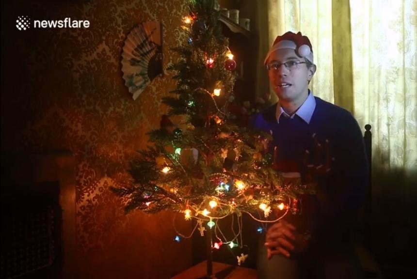 Watch: Tree lights still working 48 years later with original bulbs ...