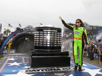 Danica Patrick injured by flying rock