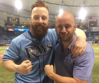 WWE Superstar Sheamus throws out first pitch at Rays game after second attempt