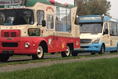 Parade of 84 ice cream trucks sets Guinness record