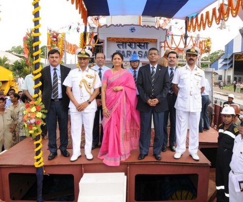 Indian fast attack craft INS Tarasa launched