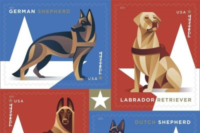 USPS honors military working dogs with new stamps