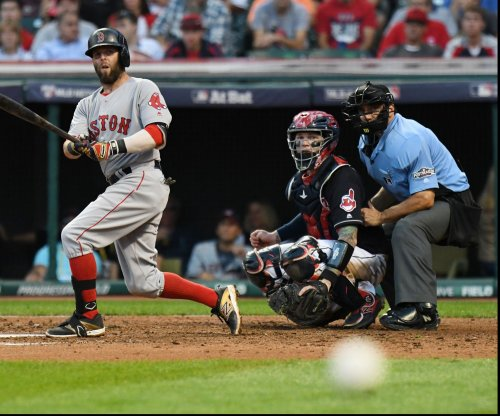 Boston Red Sox 2B Dustin Pedroia exits with sprained left wrist