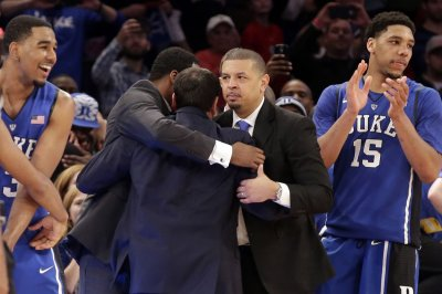 Duke Blue Devils battle Wisconsin Badgers for national title