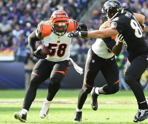 Former Cincinnati Bengals LB Rey Maualuga works to get in football shape for Miami Dolphins