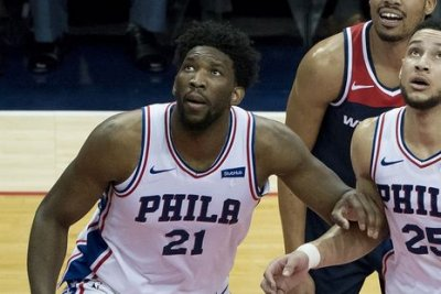 76ers' Joel Embiid doubtful for Game 5 vs. Wizards due to knee injury