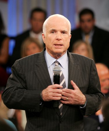 Town hall challenge dicey for McCain