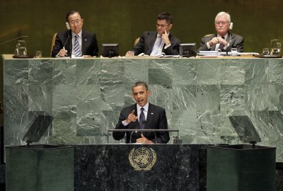 Obama: U.S. won't 'retreat from the world'