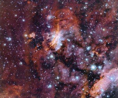 La Silla Observatory images newborn stars in Prawn Nebula
