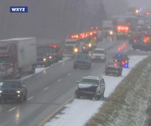Three killed 40-car pileup after snow whiteout on Michigan's I-96