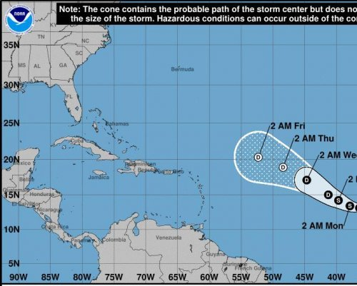 Tropical Storm Lee weakens to a depression