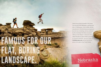 Nebraska tourism ad highlights 'flat, boring landscape'