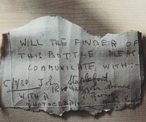 Man finds 82-year-old message in a bottle on the beach