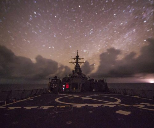 U.S. Navy destroyer USS Fitzgerald patrols South China Sea