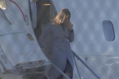 Plane carrying Melania Trump makes emergency landing due to smoke in cabin