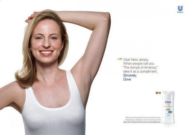 Dove ditches 'Armpit of America' ad on New Jersey billboards