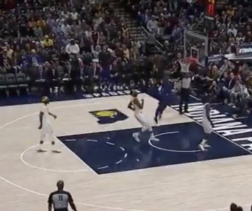 Lance Stephenson celebrates early, misses dunk behind his back