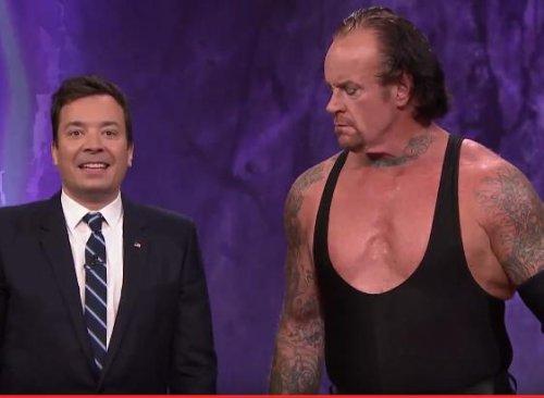 Watch: Jimmy Fallon summons WWE's The Undertaker to tombstone a turkey