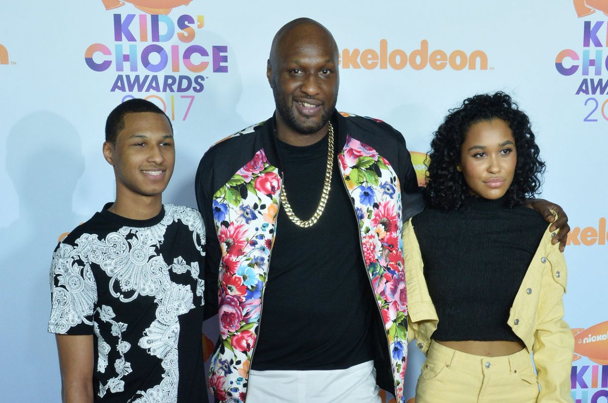Lamar Odom brings his children to Kids Choice Awards I m doing