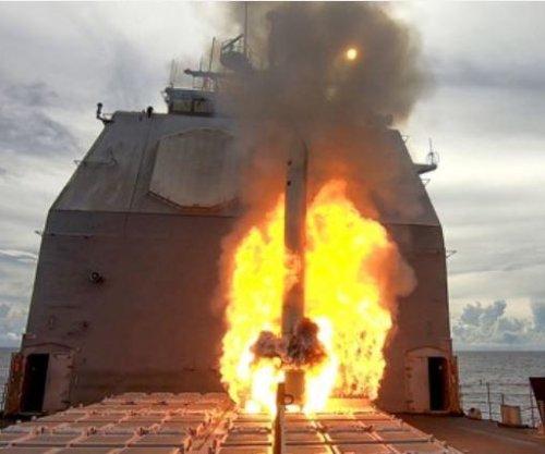 USS Antietam conducts Tomahawk strike exercise near Guam