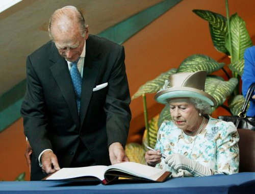 Britain's Prince Philip leaves hospital