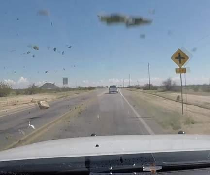 Marijuana bales fly during 100 mph police chase