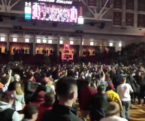 Boston College upsets No. 1 Duke, lights shut off during court storming