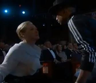 Watch Pharrell dance with Lupita Nyong'o, Meryl Streep at the Oscars [VIDEO]