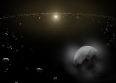 Water vapor detected around dwarf planet Ceres