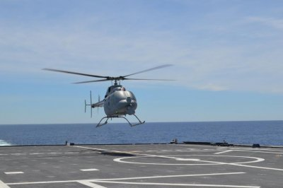 MQ-8C Fire Scout takes first flight from littoral combat ship