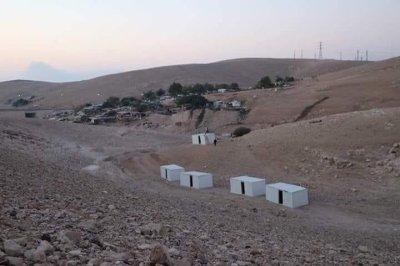 Israel demolishes structures near Khan al-Ahmar village