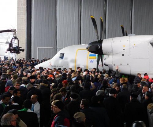 Ukraine's Antonov rolls out first AN-132D aircraft