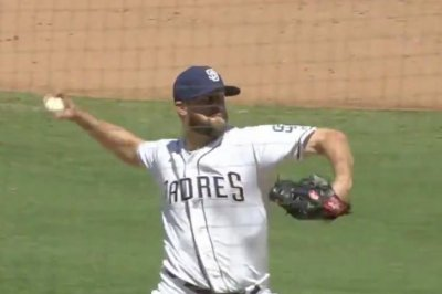 Rockies' Trevor Story breaks up perfect game for Padres' Jordan Lyles